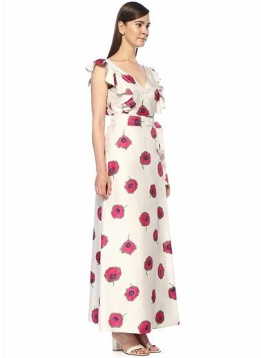 La Doublej Elbise Beyaz